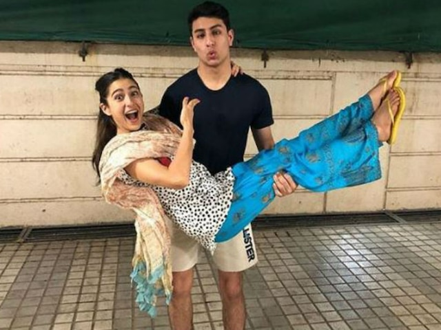 Sara Ali Khan wishes brother Ibrahim Ali Khan on his birthday with goofy pics of the duo!