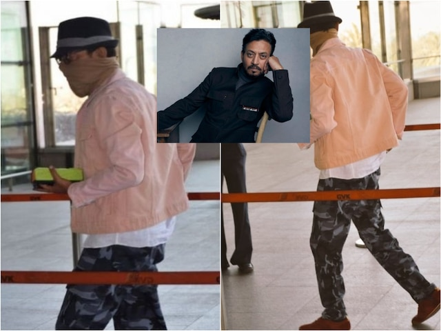 Irrfan Khan spotted at the Mumbai airport after 8 months