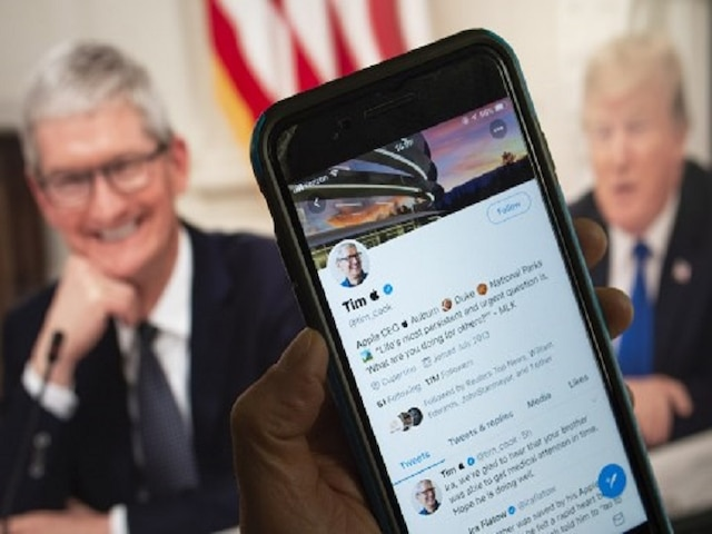 After Trump mispronounces Tim Cook's name, Apple CEO quietly changes Twitter name
