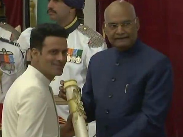 Padma Awards 2019: Manoj Bajpayee receives Padma Shri award from President Ram Nath Kovind;SEE PICS
