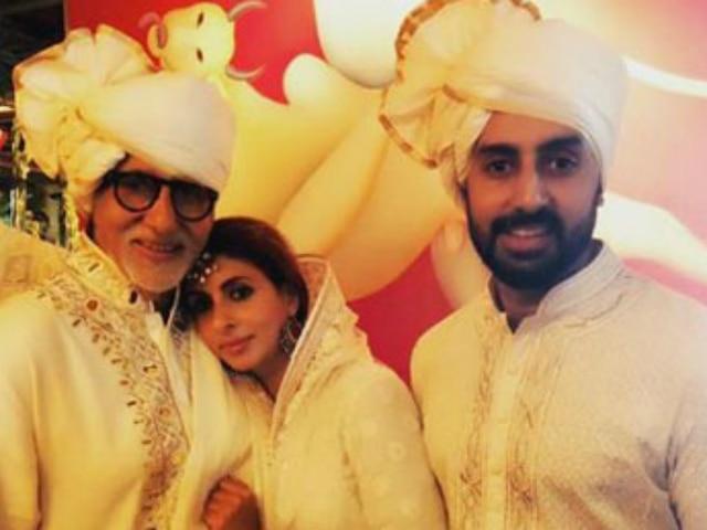 Amitabh, Abhishek Bachchan extend heartfelt birthday wishes to Shweta Bachchan! SEE PICS!