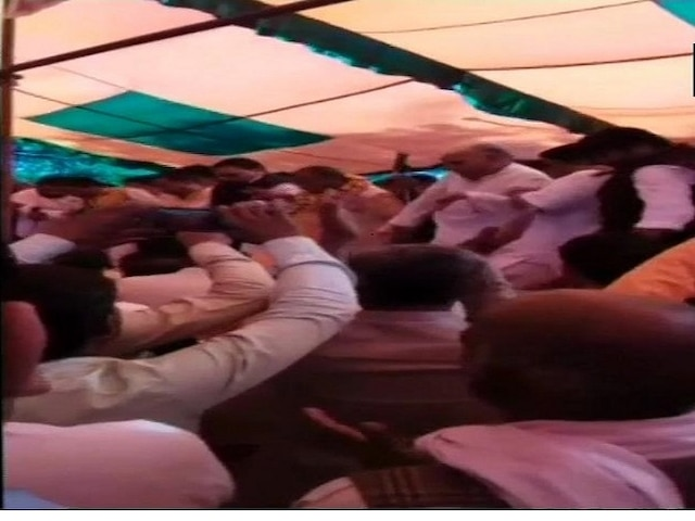 SHOCKING video: Stage collapses during BJP's Holi Milan event in Sambhal, UP