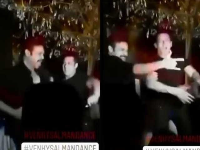 Salman Khan dances on 'Jumme Ki Raat' with Venkatesh Daggubati at his daughter's wedding!