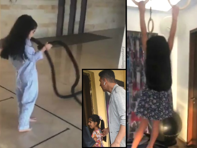 Akshay Kumar's daughter Nitara returns with her #FitIndia message, does chin ups in the house!