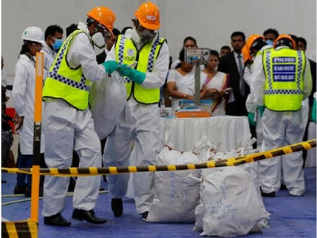 WATCH: Sri Lankan authorities publicly destroy 770kg of cocaine