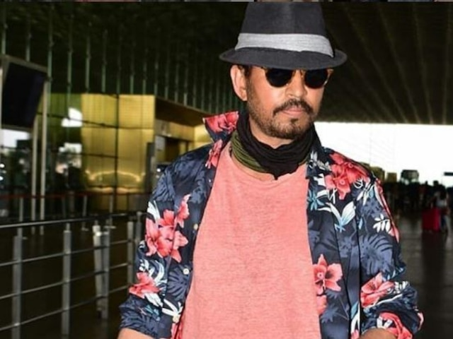 Irrfan Khan uncovers face in front of paparazzi at Mumbai airport, looks in pink of health (PICS & VIDEO)