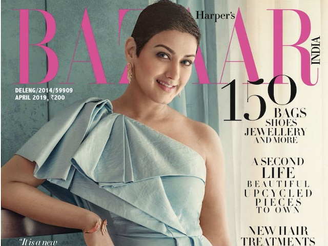 Sonali Bendre on cover of Harpers Bazaar India cover after winning over cancer