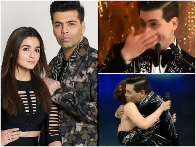 Filmfare Awards 2019 Alia Bhatt thanks Karan Johar for being her mentor, makes KJo cry (VIDEO)