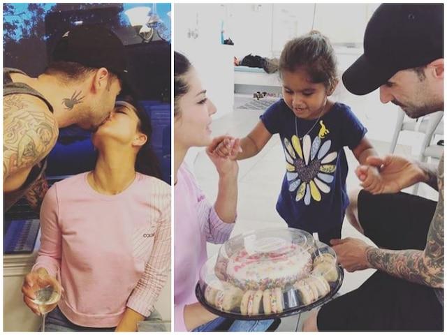 Sunny Leone & Daniel Weber celebrate eighth wedding anniversary daughter Nisha Kaur Weber bakes cake for them! SEE PICS