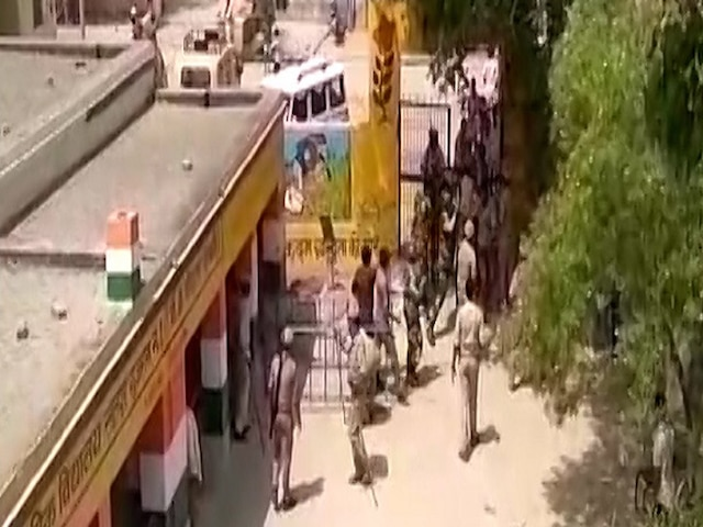 UP Lok Sabha polls Security personnel fire shots in air as fake voters turn violent at a polling booth in Kairana
