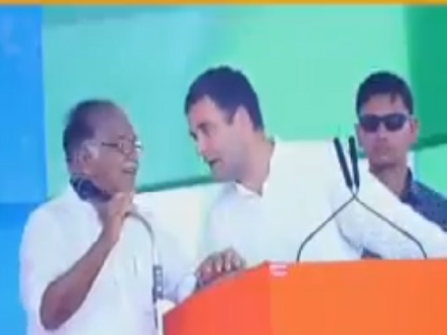 Translator PJ Kurien at Rahul's Kerala rally fails to comprehend Gandhi's speech, Oppn mocks