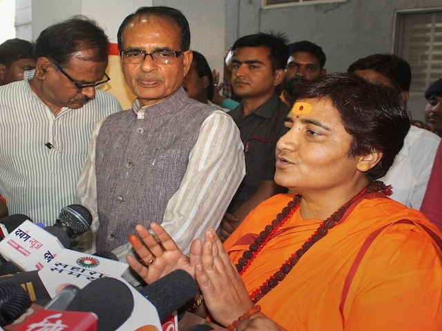 Lok Sabha elections Sadhvi Pragya holds Digvijaya Singh responsible for 'defamation' of Hinduism