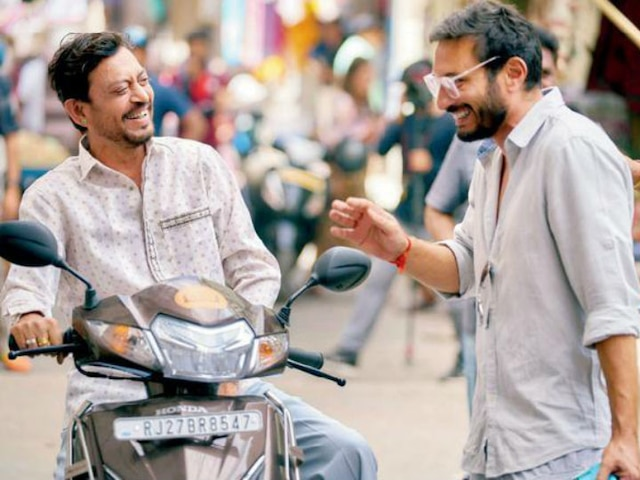 Irrfan Khan is all smiles on the sets of Angrezi Medium