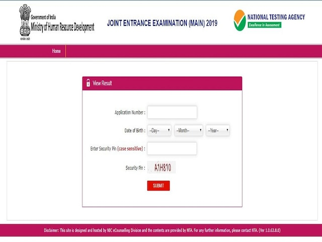 NTA JEE Main results 2019 Declared Here is direct link Check toppers list, cut-off