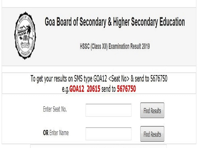 Goa Board Class 12th Result 2019 Declared 89.59 PASS GBSHSE official website ghshse.gov.in is down Direct link to check HSSC results 2019