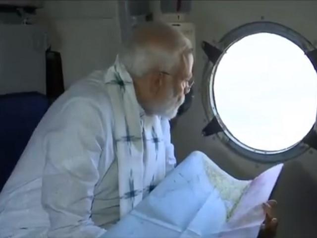 Cyclone Fani, PM Modi conducts aerial survey of cyclone-ravaged areas in Odisha