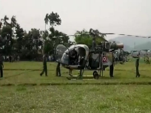 Indian Army chopper makes emergency landing in Assam's Nagaon after developing technical snag