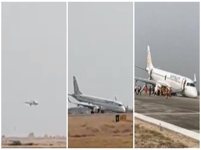 Shocking Video! Pilot makes emergency landing as plane's front wheel fail in Myanmar