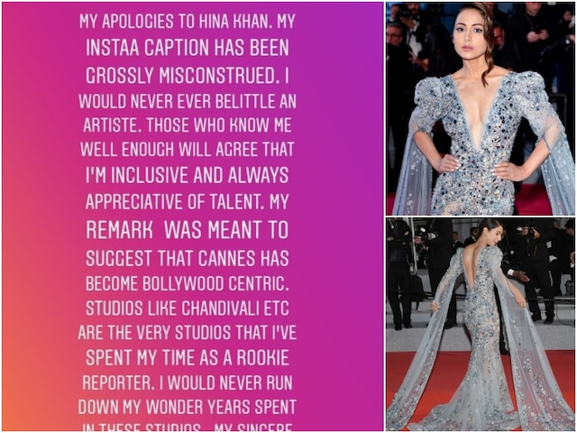 Magazine editor apologises to Hina Khan after TV fraternity members BLAST him for mocking her Cannes 2019 RED CARPET look!