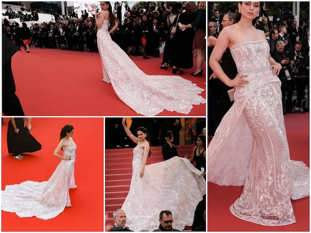 Cannes 2019: Kangana Ranaut poses on the RED CARPET of Cannes Film Festival 2019!