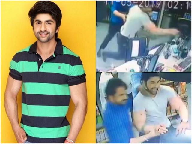 WATCH- LEAKED CCTV footage shows Kasam Tere Pyaar Ki actor Aansh Arora fighting with staff at general store