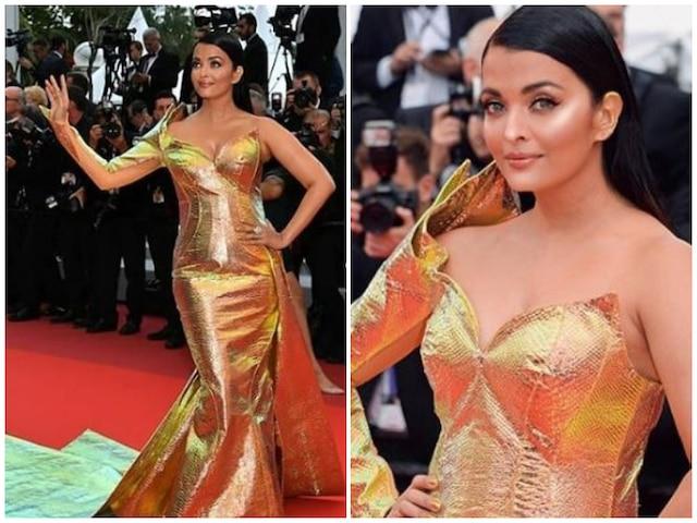 Cannes Film Festival 2019 - Aishwarya Rai Bachchan stuns in a golden metallic fish-cut gown as she walks the red carpet! SEE PICS!