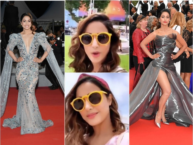 Cannes 2019: Hina Khan bids good bye after her TWO sensational RED CARPET appearances!