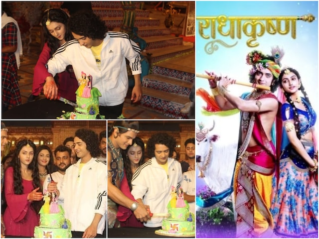 RadhaKrishn 200 episodes celebration: Sumedh Mudgalkar & Mallika Singh cut cake with cast & crew on set