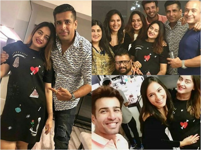 PICS- Mommy-to-be Mahhi Vij flaunts her baby bump at Kumkum Bhagya actor Shabbir Ahluwalia wife Kanchi Kaul birthday party