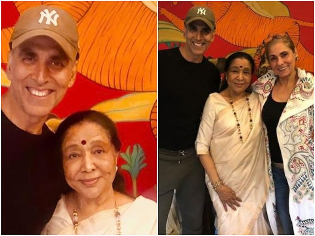 PICS- Akshay Kumar spends Sunday evening with Asha Bhosle bonding over chai
