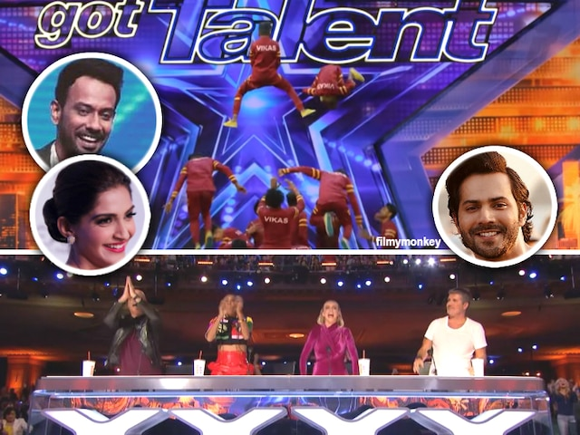 America's Got Talent: The 'Dance Plus 4' finalists 'V Unbeatable' group gets standing ovation in the US reality show! Varun Dhawan, Sonam Kapoor, Dharmesh Yelande cheer for them