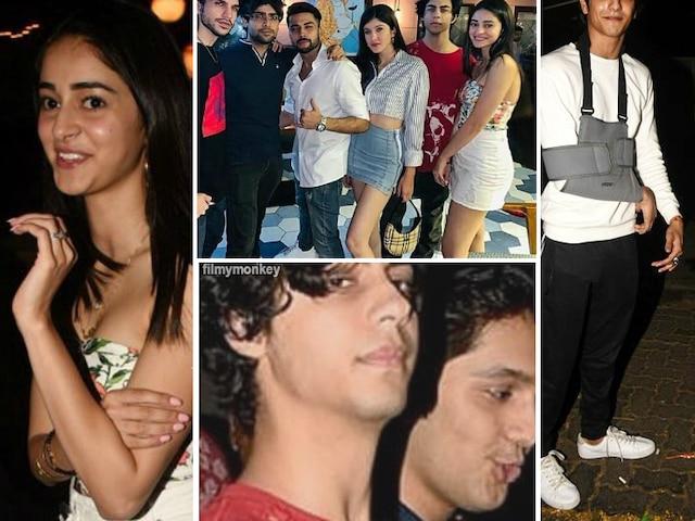 Star Kids Party hard: Ananya Panday, Shanaya Kapoor, Ahaan along with SRK's son Aryan Khan have a bash in the city