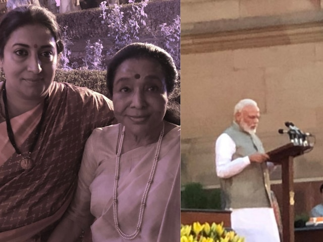 Asha Bhosle thanked Smriti Irani for helping her after she was stranded in rush post Prime Minister Narendra Modi's oath-taking ceremony!