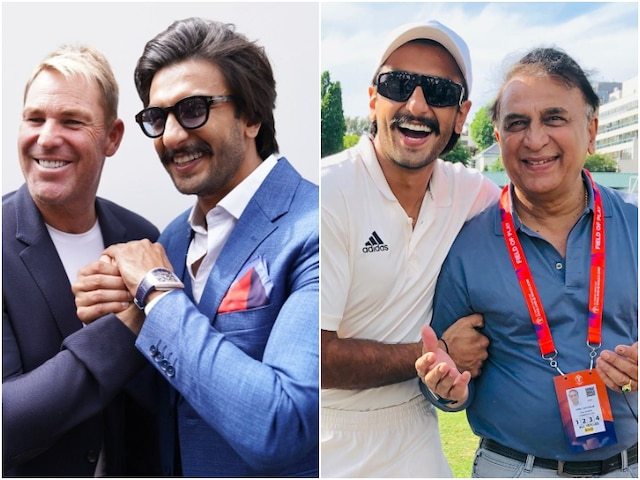 83 actor Ranveer Singh bowled over by Shane Warne & Sunil Gavaskar, shares PIC with former cricketers