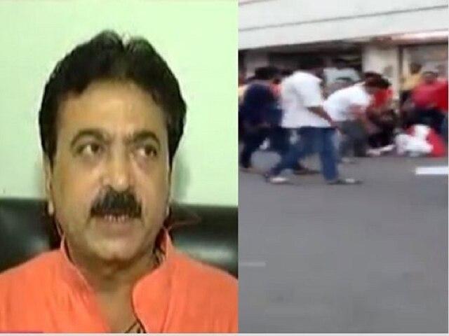 SHOCKING VIDEO ! BJP MLA Balram Thawani caught on camera kicking woman; says it was self-defence