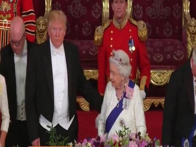 Trump appears to put his hand on Queen Elizabeth's back; triggers debate over breach of royal protocol