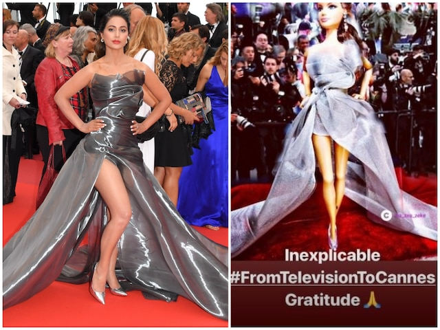 TV actress Hina Khan gets another doll inspired from her Cannes 2019 red carpet look; Check out