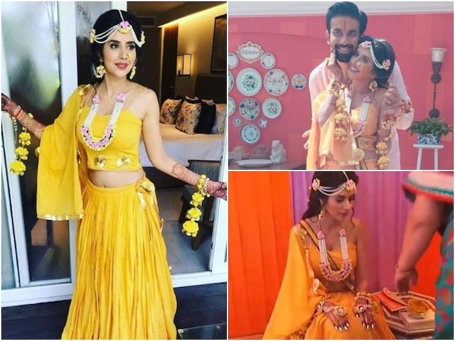 Sushmita Sen's brother Rajeev Sen & Charu Asopa Haldi ceremony pictures & videos