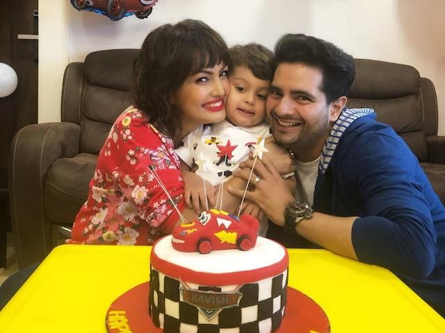 Yeh Rishta Kya Kehlata Hai actor Karan Mehra & wife Nisha Rawal celebrate son Kavish Mehra's second birthday, see PICS