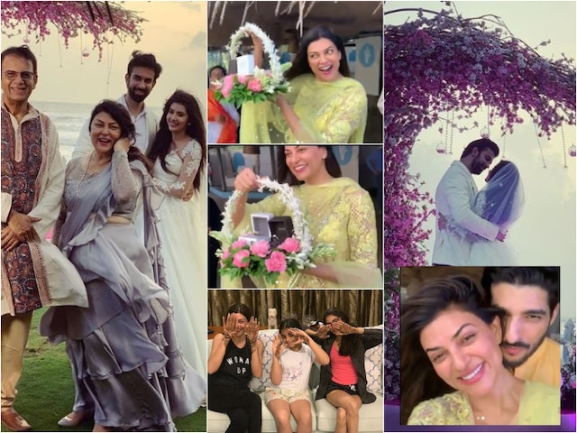 Sushmita Sen shares UNSEEN PICS & VIDEOS from her brother Rajeev Sen's FAIRY TALE ring ceremony in Goa as she congratulate the newlyweds!