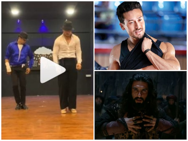 Tiger Shroff gives Michael Jackson twist to Ranveer Singh's 'Khalibali' song! Watch Video!