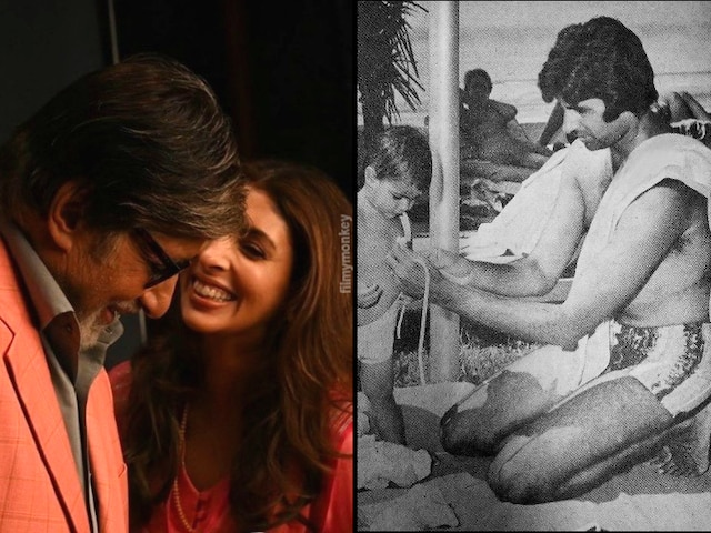 Amitabh Bachchan leaves daughter Shweta Nanda embarrassed by posting her childhood pic in a swimsuit!