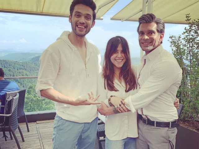Kasautii Zindagii Kay 2: Ekta Kapoor shares PIC with Parth Samthaan & Karan Singh Grover From Switzerland