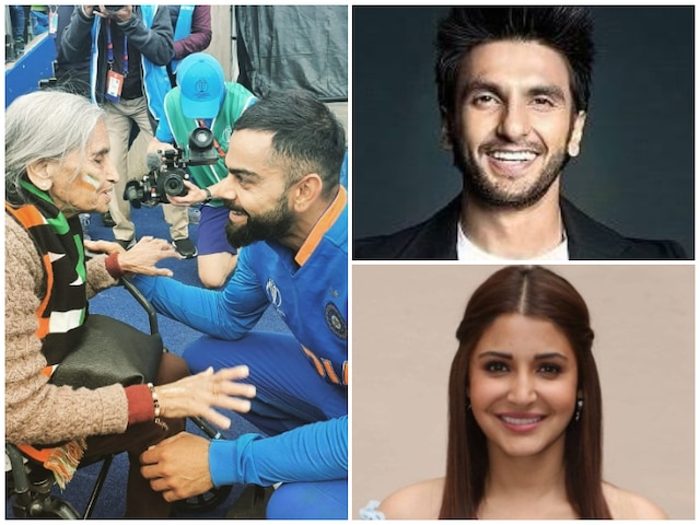 IND vs BAN, ICC World Cup 2019: Ranveer Singh, Anushka Sharma React As Virat Kohli Meets 87-Year-Old Fan Charulata Patel At Edgbaston Stands