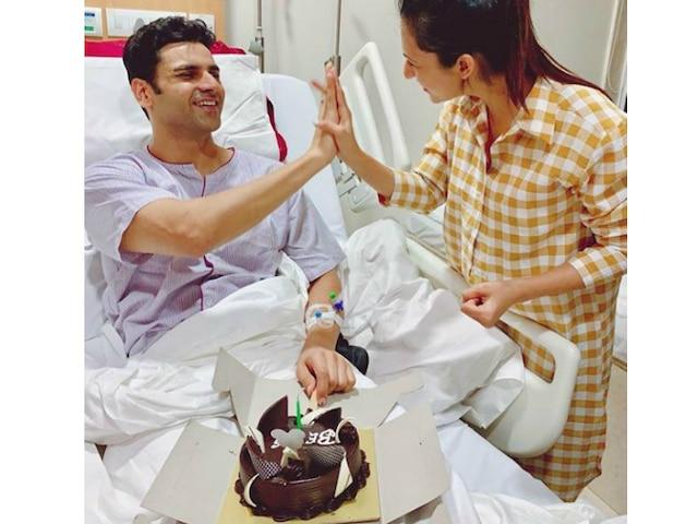 'Yeh Hai Mohabbatein' couple Divyanka Tripathi & hubby Vivek Dahiya celebrate their third wedding anniversary in hospital! See Pics!