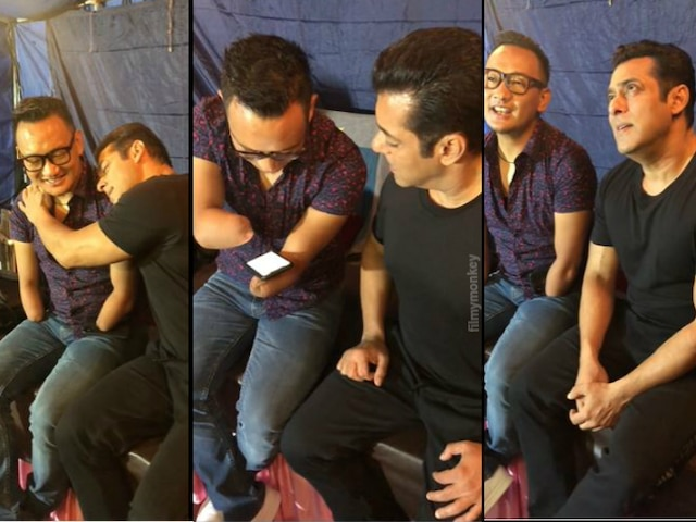 Adorable Video: Salman Khan joins differently abled 'Indian Idol' fame Thupten Tsering & they sing 'phoolon ke rang se' together!