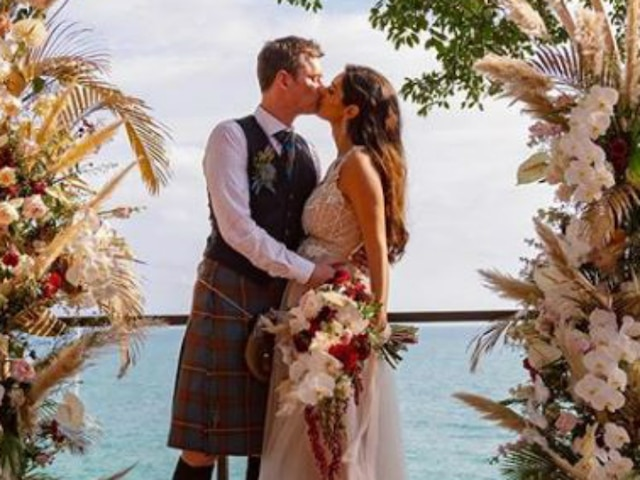 Pregnant Bruna Abdullah Finally Shares First Wedding Picture With Hubby Allan Fraser On Social Media!