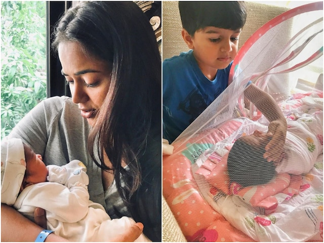 Sameera Reddy Shares ADORABLE PIC Of Son Hans Varde With His Little NEWBORN Sister