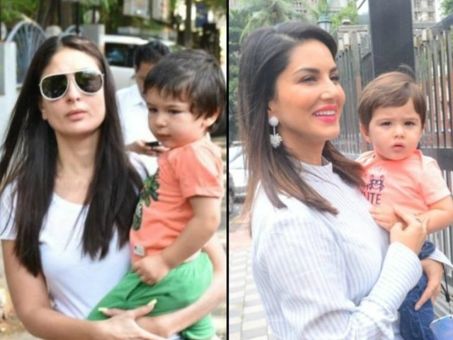 Sunny Leone reacts to her son Noah Singh Weber being compared to Saif-Kareena Kapoor's son Taimur Ali Khan