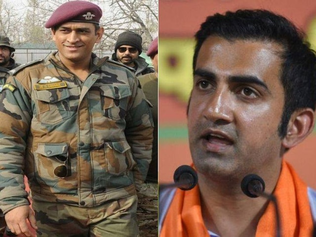Kargil Shikhar Sammelan: Gambhir Lauds Dhoni For Doning Army Uniform, Serving With Parachute Regiment in Kashmir